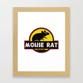 mouse rat logo jurasic parody Framed Art Print