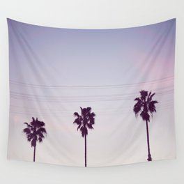 Los Angeles Sunset + Palm Tree Silhouettes Wall Tapestry