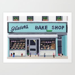 Glaser's bake shop Art Print