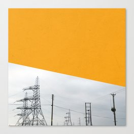 Orange Pylons Canvas Print