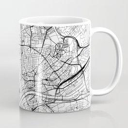 Frankfurt White Map Coffee Mug