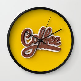 Just Coffee! Wall Clock