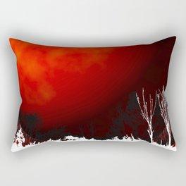 Blood Orange Moon Rectangular Pillow