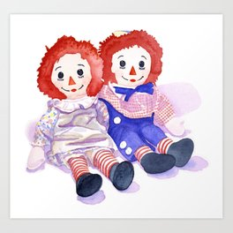 Raggedy Anne / Andy Art Print