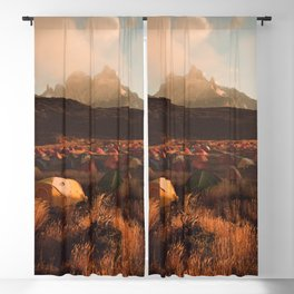 Patagonia Chile Morning Camp Blackout Curtain