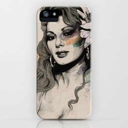 Edwige (street art sexy portrait of Edwige Fenech) iPhone Case