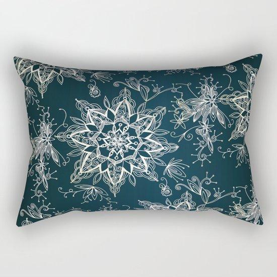 Zendala snowflake denim Rectangular Pillow