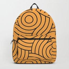 Circle Swirl Pattern VA Bright Marigold - Spring Squash - Pure Joy - Just Ducky Backpack