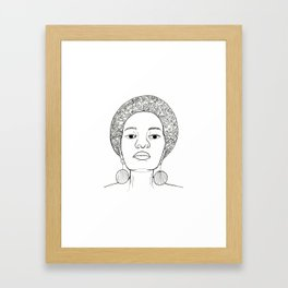 Beautiful Afro woman with earrings Framed Art Print
