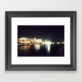 the other side of singapore Framed Art Print