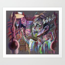 Bride of the Exorcist Art Print