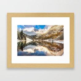 Standing Near the Bells - Aspen Colorado Framed Art Print
