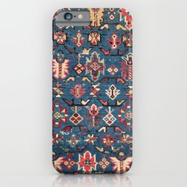 Cobalt Blue Khyrdagyd // 19th Century Authentic Colorful Yellow Red Aztec Butterfly Accent Pattern iPhone Case