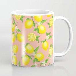 You're the Zest - Lemons on Pink Coffee Mug