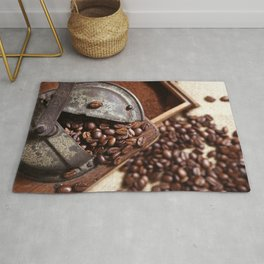 Coffee grinder with coffee beans picture 2 Rug