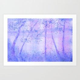Lakeside Blush Art Print