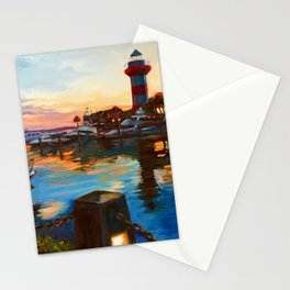 Harbour Town Lighthouse Evening, Hilton Head Island Stationery Cards