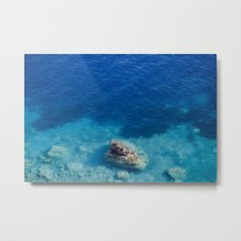 Sea with Clear Blue Waters Metal Print