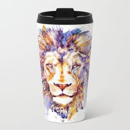 Lion Head Metal Travel Mug
