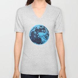 Turquoise Moon Unisex V-Neck