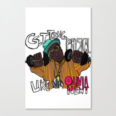 getting physical Canvas Print