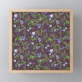 Opossum, Fern, & Violet Print Framed Mini Art Print