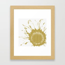 Golden Flower Framed Art Print