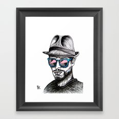 Reflective Rave Framed Art Print