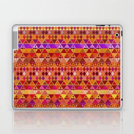 Fire Diamond Pattern Laptop & iPad Skin