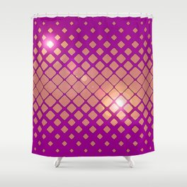 Sparkle Geometric Pop Print Magic Magenta Shower Curtain