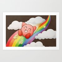 kirby Art Prints featuring Kirby by Richard Kemmerer
