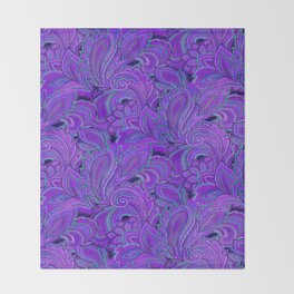 paisley paisley purple Throw Blanket