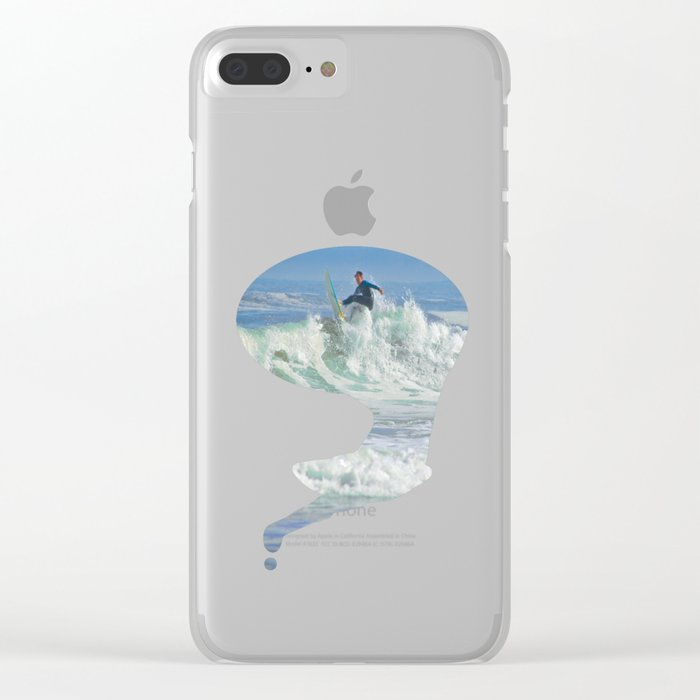 Action Fun Clear iPhone Case