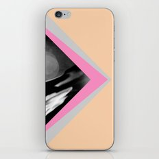 Peachy with Blue Triangles iPhone & iPod Skin