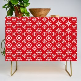Winter Wonderland Snowflake Christmas Pattern Credenza
