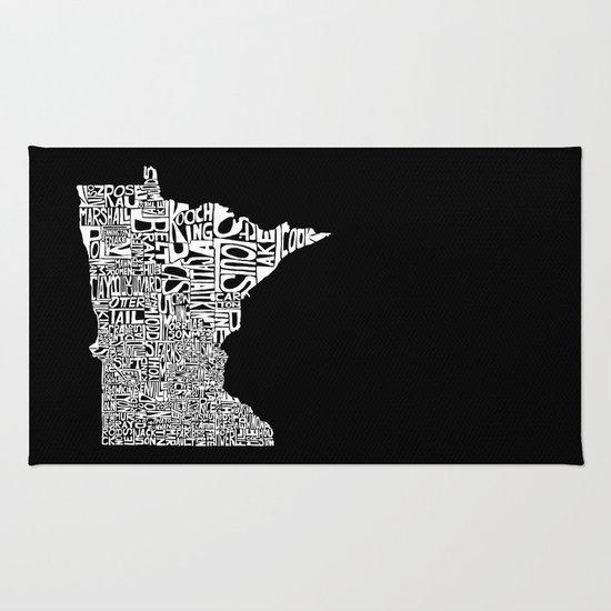 Typographic Minnesota Rug