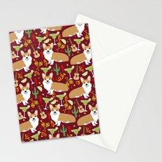 Corgi Margarita Party Stationery Cards