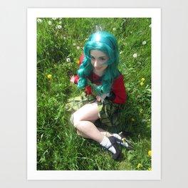 Michiru Kaioh Mugen Gakuen Uniform Cosplay Art Print