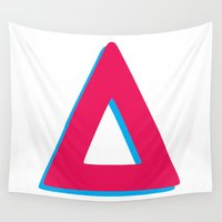 bastille Wall Tapestries featuring vs. inspired triangle by darknightdrive