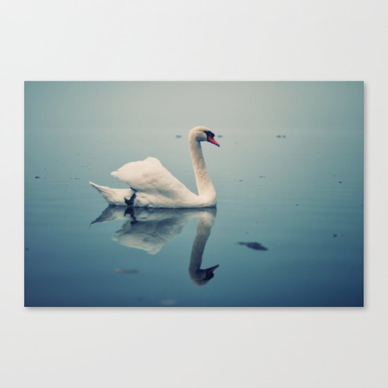 Act II: By a Lake: Scene: The swans swim on the lake Canvas Print