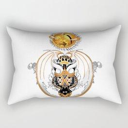 Cosmic Smoking Copperhead Dragon Rectangular Pillow