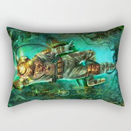 Steampunk Diver Rectangular Pillow