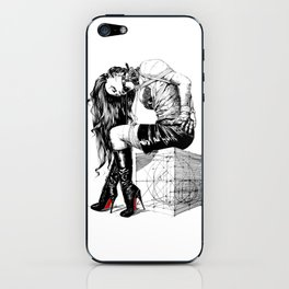 Lady on Cube iPhone Skin