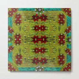 Shield of spice pop art and pattern Metal Print