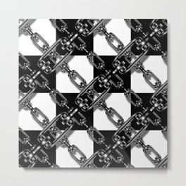 Chained Checkers Metal Print