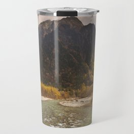 Azusa River and Autumn colours in Kamikochi, Japan Travel Mug