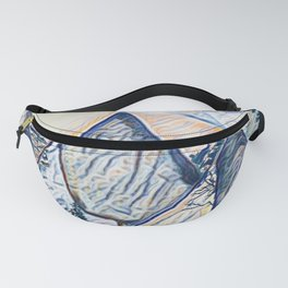 mountain forest abstract pastel painting Fanny Pack
