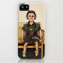 Loki Outside the Principal's Office iPhone Case