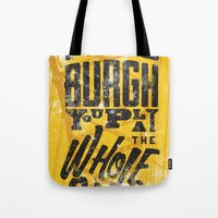 pittsburgh Tote Bags featuring Pittsburgh Steelers by Sciulli