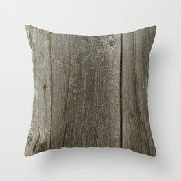 Weathered Barn Wood Door Throw Pillow